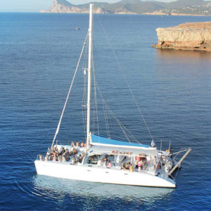 80 guests catamaran in ibiza